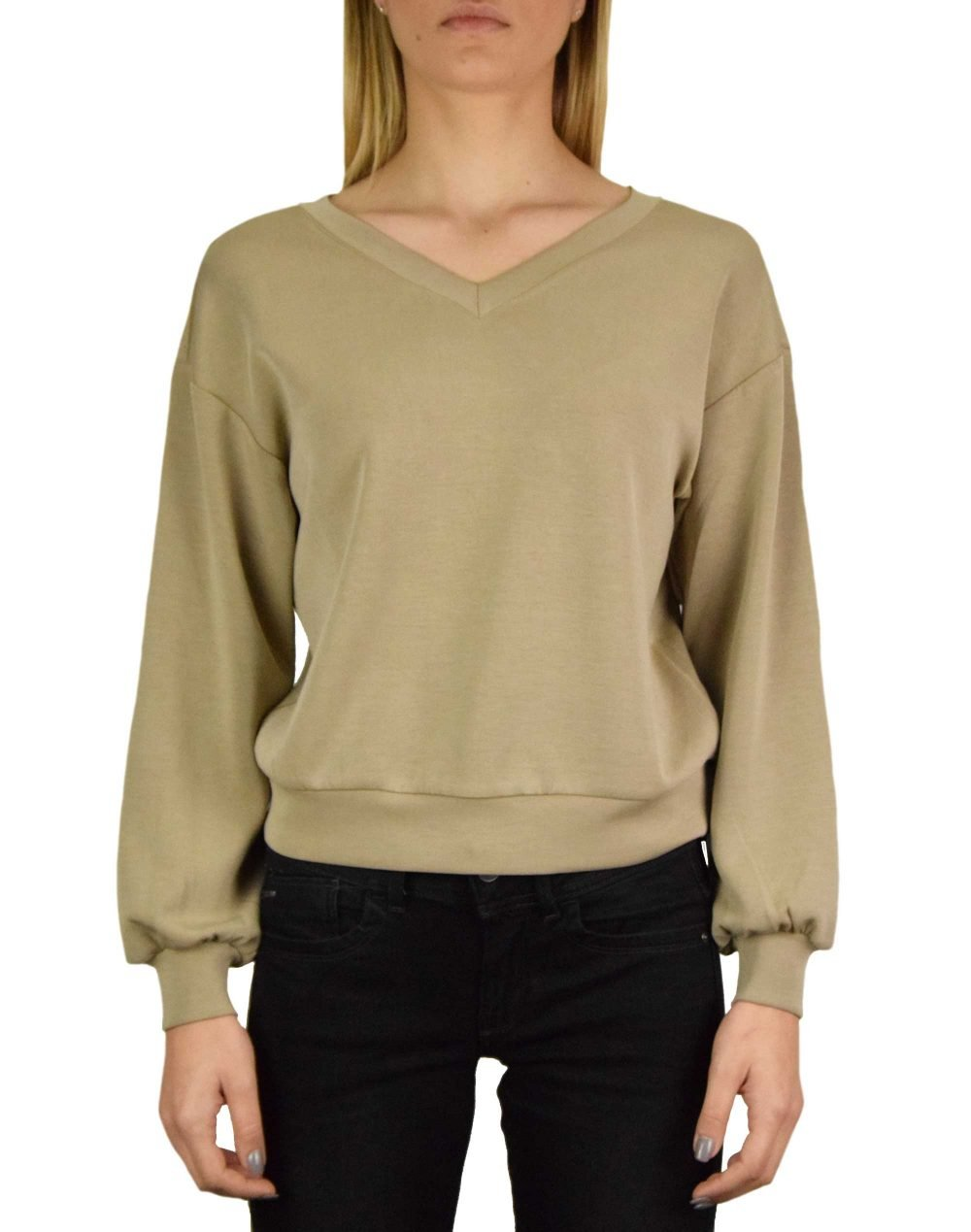 Only Gaia Wide Sweat Top (15194303) Chinchilla