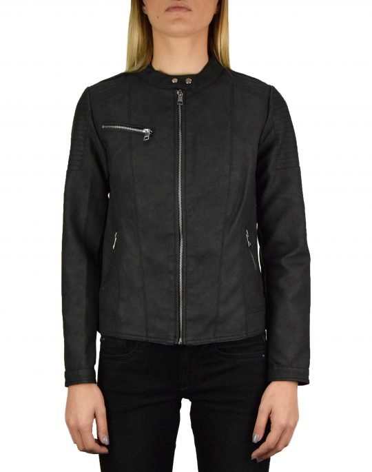Only Melanie Faux Leather Jacket (15191823) Black