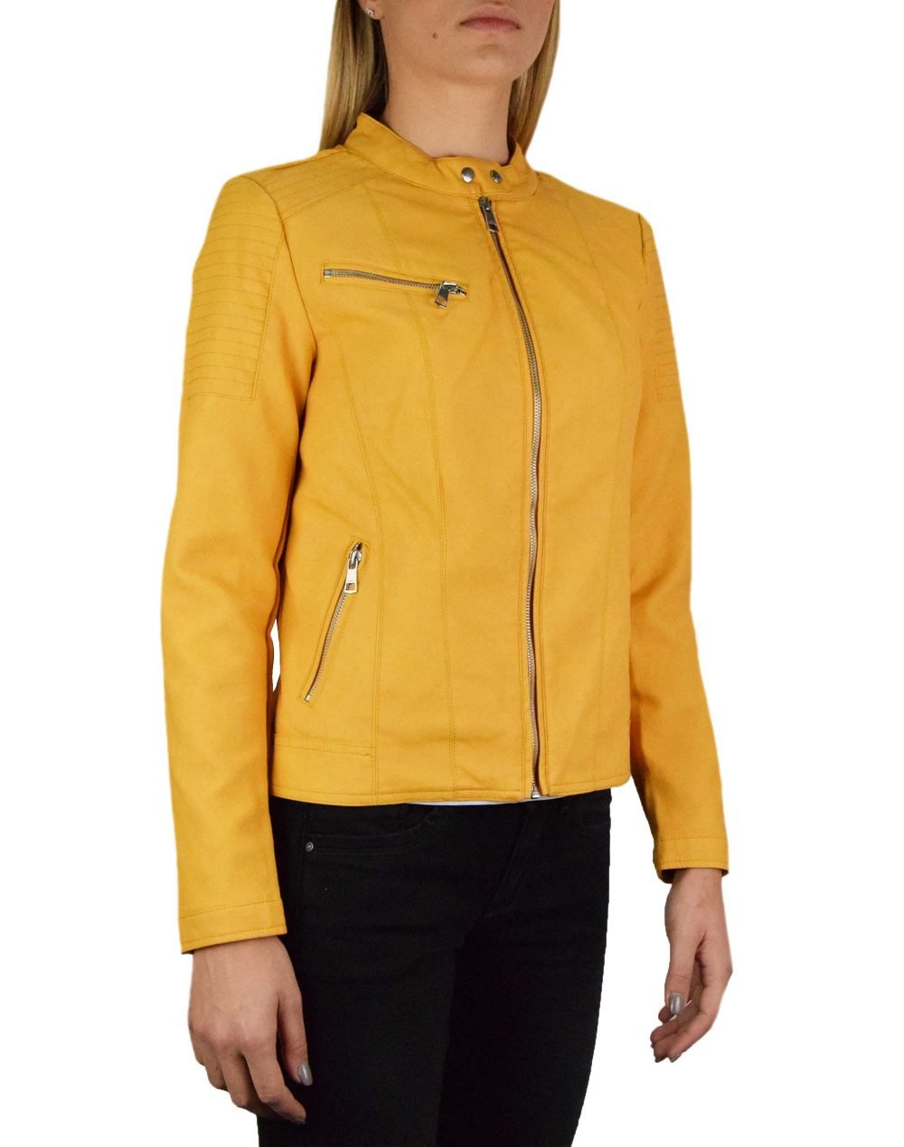 Only Melanie Faux Leather Jacket (15191823) Golden Apricot