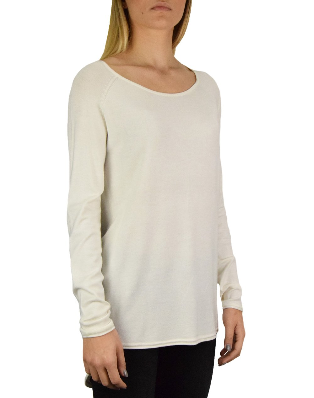 Only Mila Lacy Long Pullover Knit (15109964) Cloud Dancer