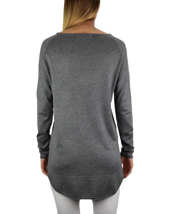Only Mila Lacy Long Pullover Knit (15109964) Medium Grey Melange