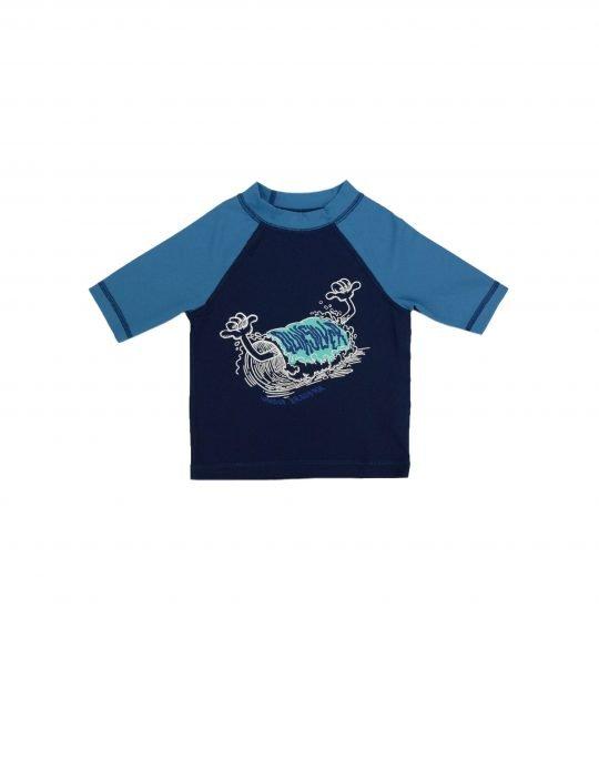Quiksilver Bubble Dreams Sort Sleeve UPF 50 Rash Vest (EQKWR03051-BTE0) Medieval Blue