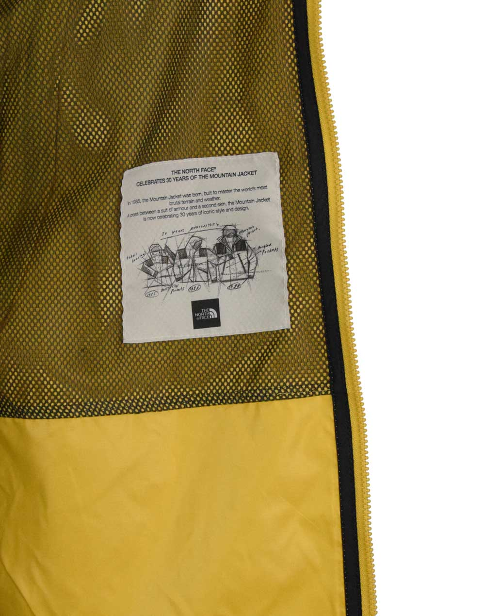 The North Face Seasonal Mountain Jacket (NF0A2S4ZNW91) Bamboo Yellow/Black