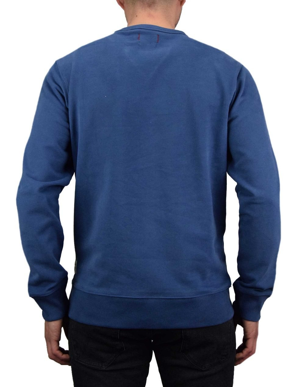 Jack & Jones Andrew Print Blu. Sweat (12167715) Denim Blue