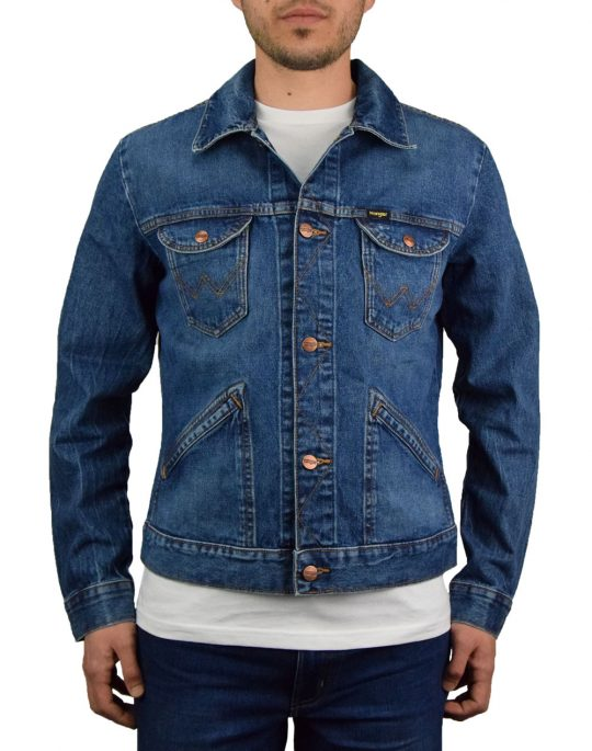 Wrangler 3 Years Denim Jacket (W4MJUG925) Blue Denim