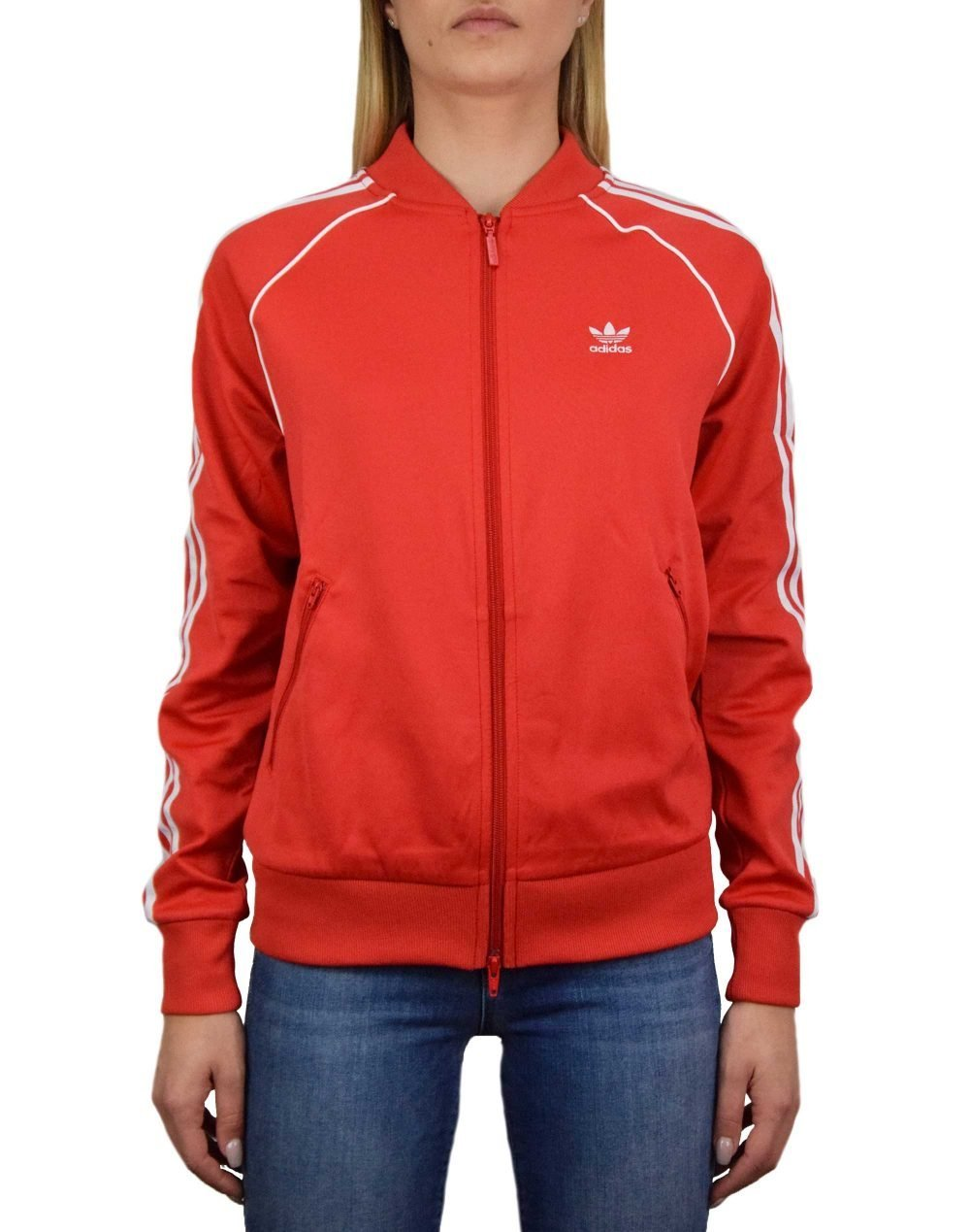 Adidas SS Track Top (FM3313) Red/White