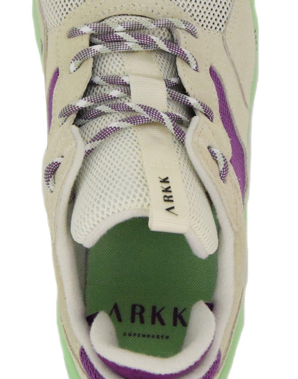 Arkk Copenhagen Kanetyk Suede W13 (CR3802-0011) Off White/Neo Mint