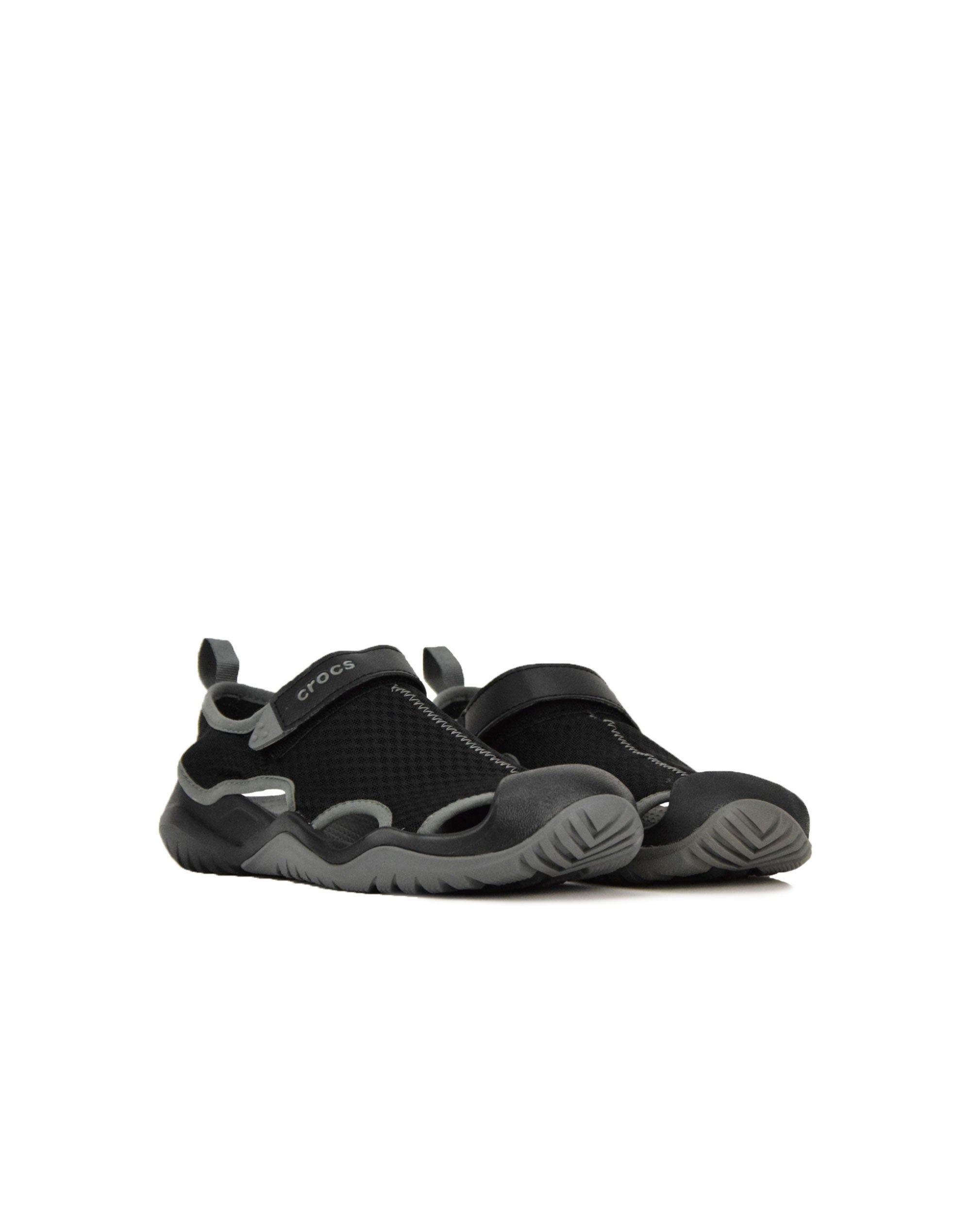 Crocs Swiftwater Mesh Deck Sandal (205289-001) Black