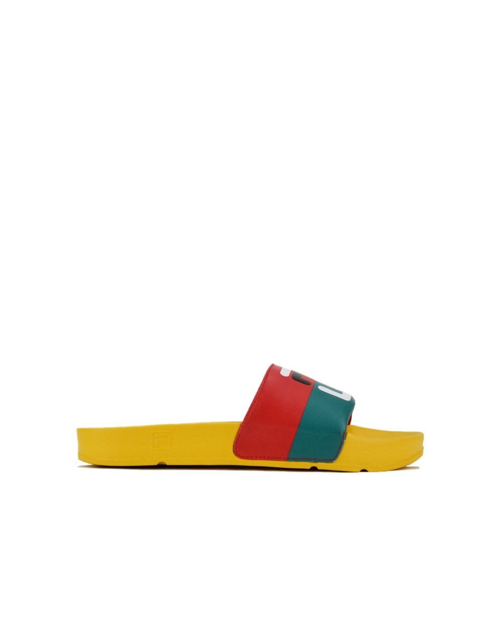 Fila Drifter Festival Slide (1SM00533-704) Yellow Light/Green/Red/Navy