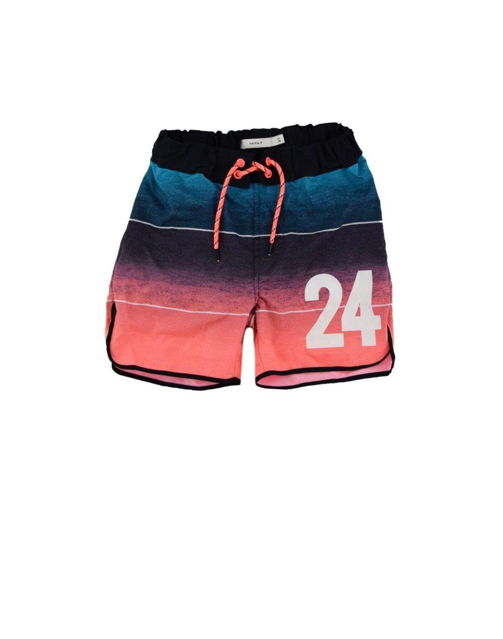 Name It Zaids Long Shorts (13175169) Neon Coral