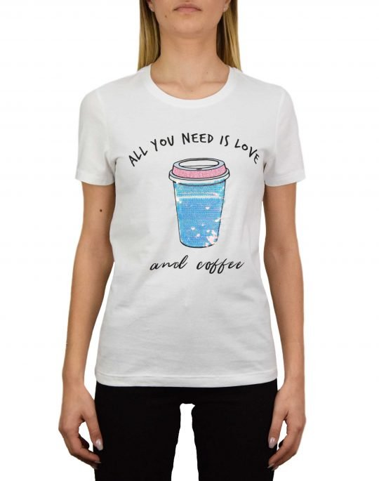 Only Cina Life Seq Top Box Tee (15203528) Bright White/Coffee