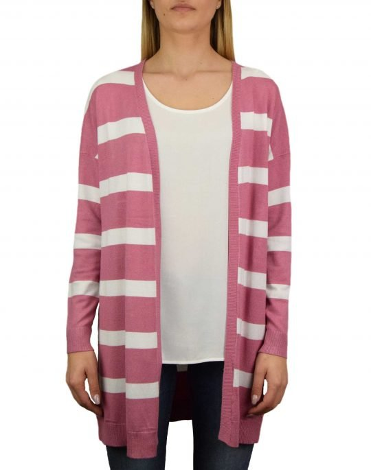 Only Selena Stripe Cardigan (15193182) Heather Rose/Cloud Dancer