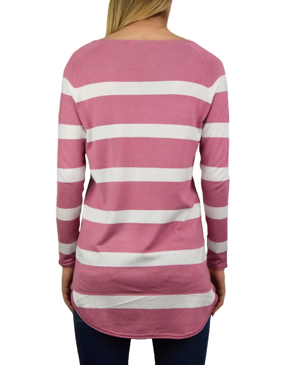 Only Selena Stripe Pullover (15193187) Heather Rose/Cloud Dancer