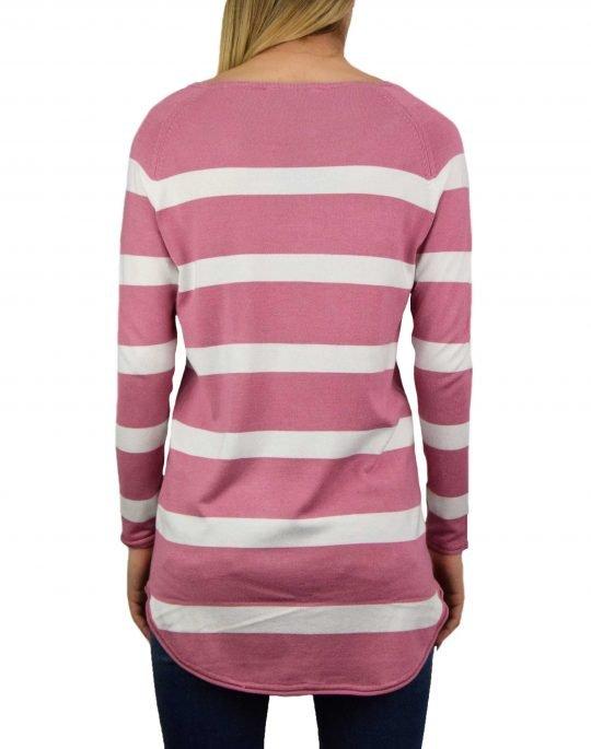 Only Selena Stripe Pullover (15193187) Heather Rose/Cloud Dancer