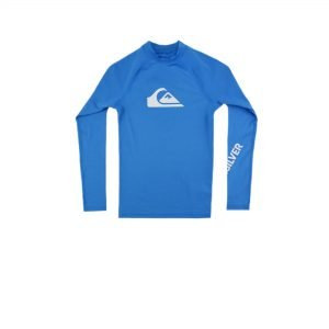 Quiksilver All Time Long Sleeve UPF 50 Rash Vest (EQBWR03128-BMM0) Blithe