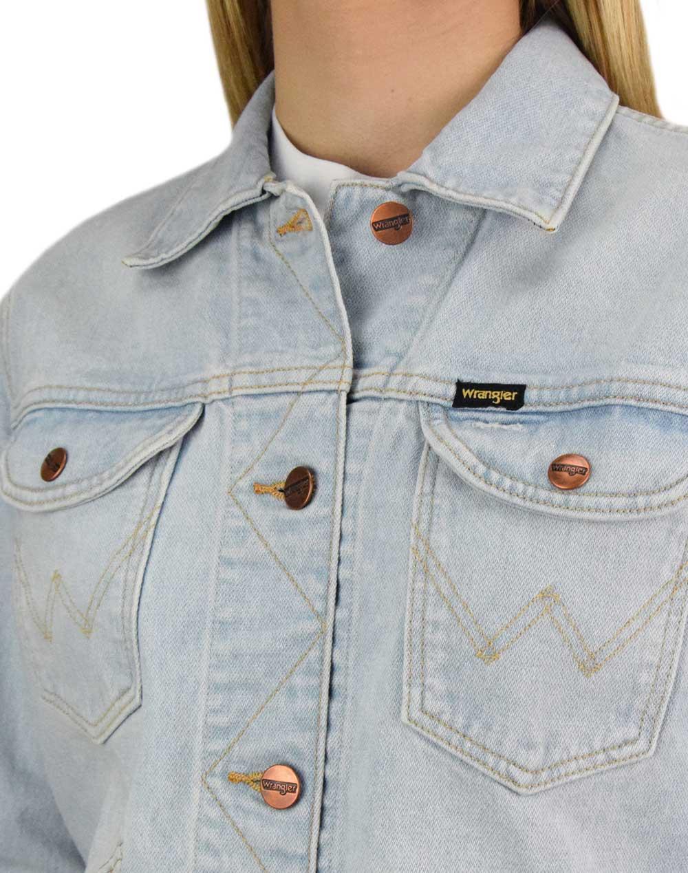 Wrangler Blue Rhapsody Jacket (W4WJUG13I) Bleach Denim