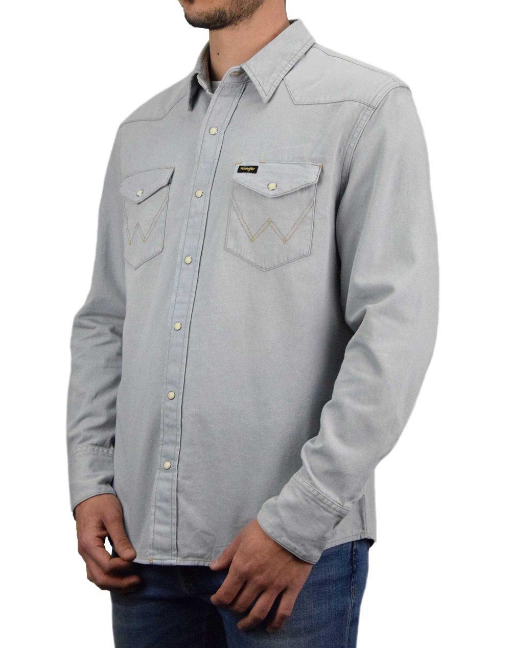 Wrangler Icons 27 MW Western Shirt (W5MSLW13I) Blue Rhapsody