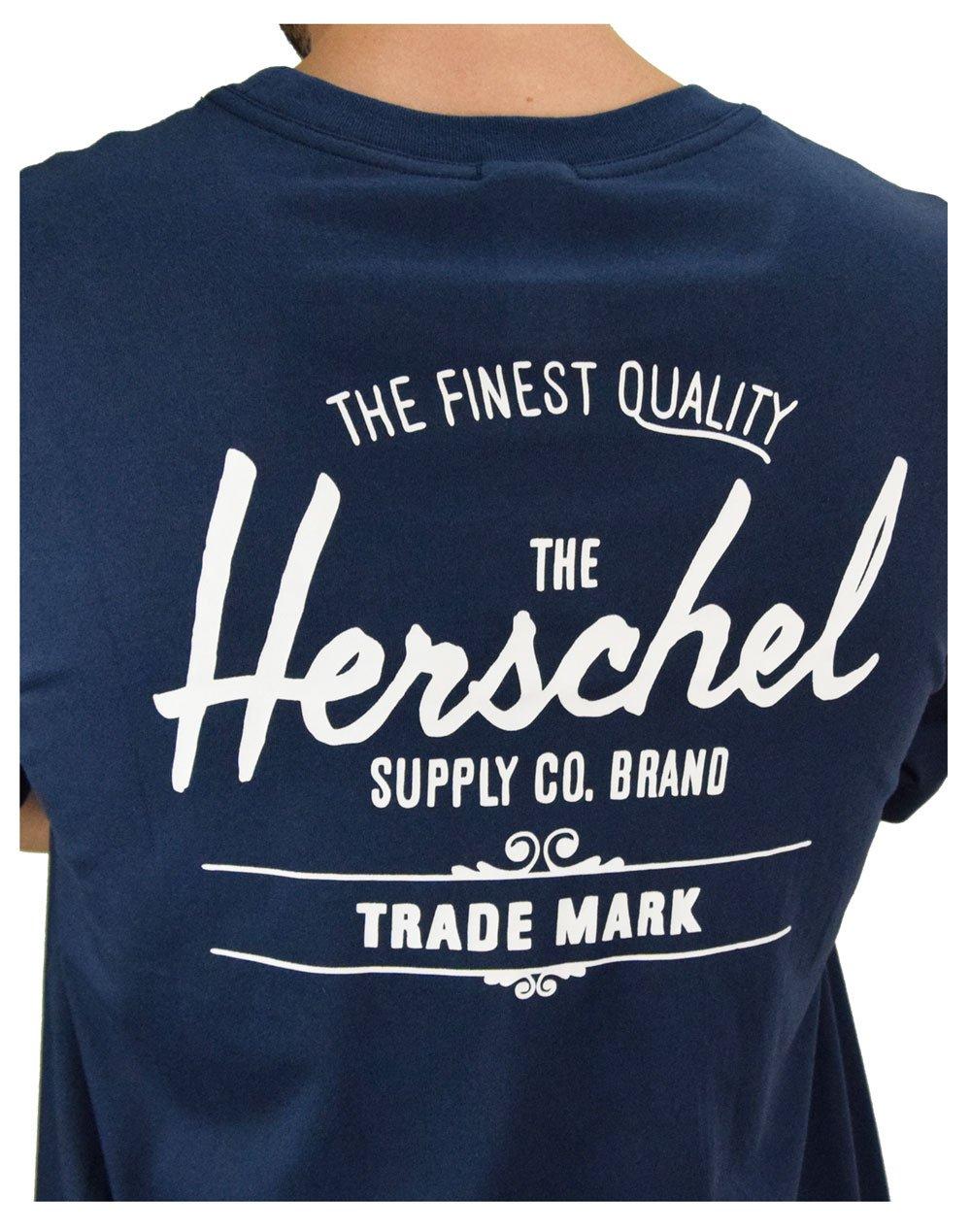 Herschel Supply Co Men' s Classic Logo Tee (50027-00254) Peacoat/White
