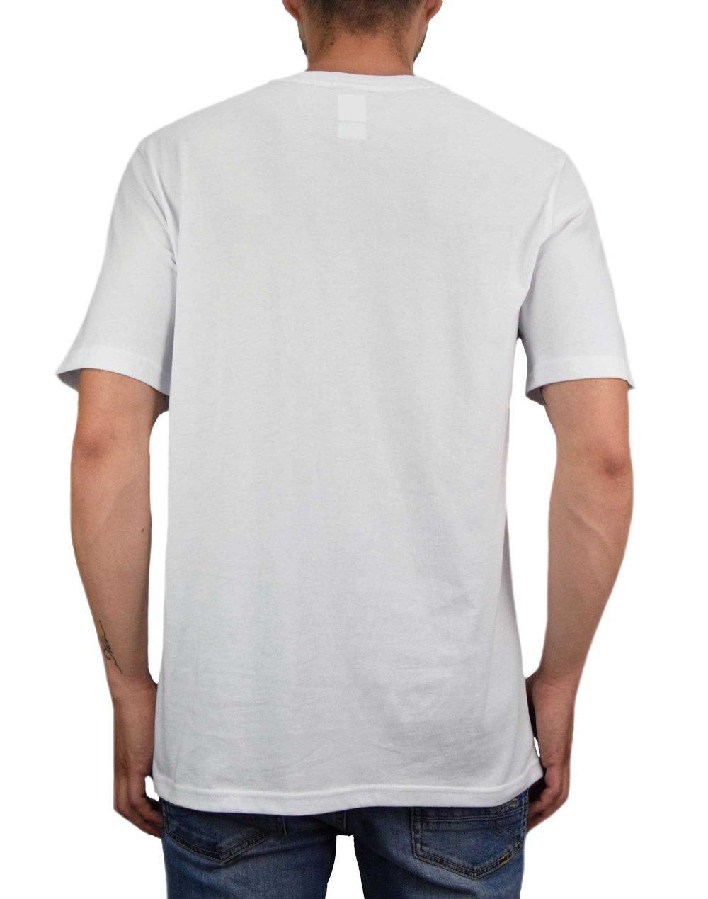 Herschel Supply Co Men's Two Tone Logo Stamp Tee (50027-00543) Bright White