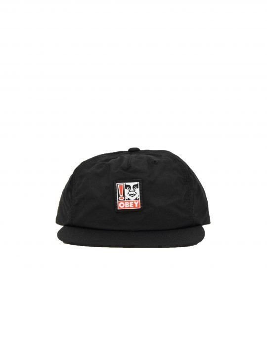 Obey Exclamation Strapback Hat (100570111) Black