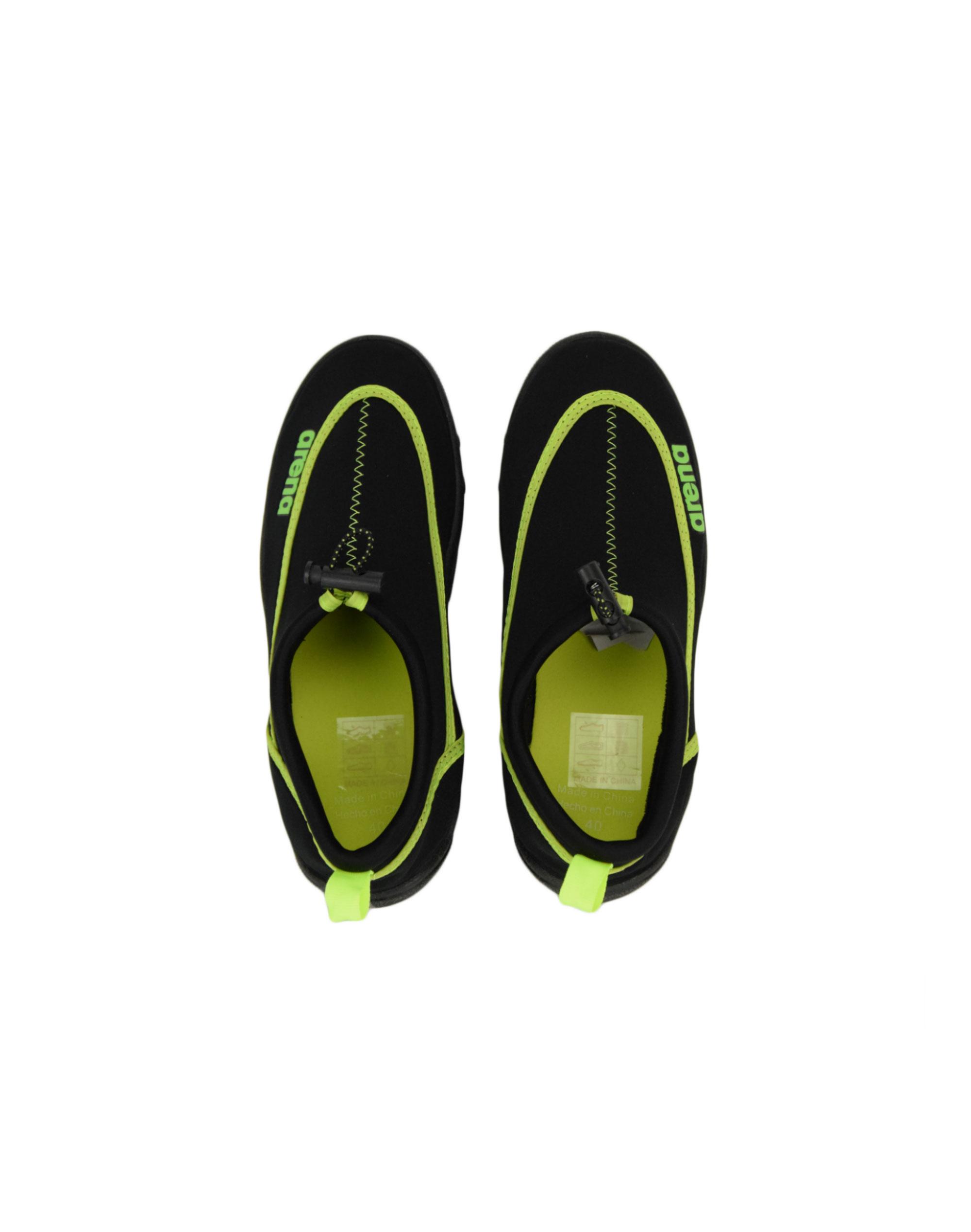 Arena Bow Polybag Shoes (1E030-50) Black/Neon Green