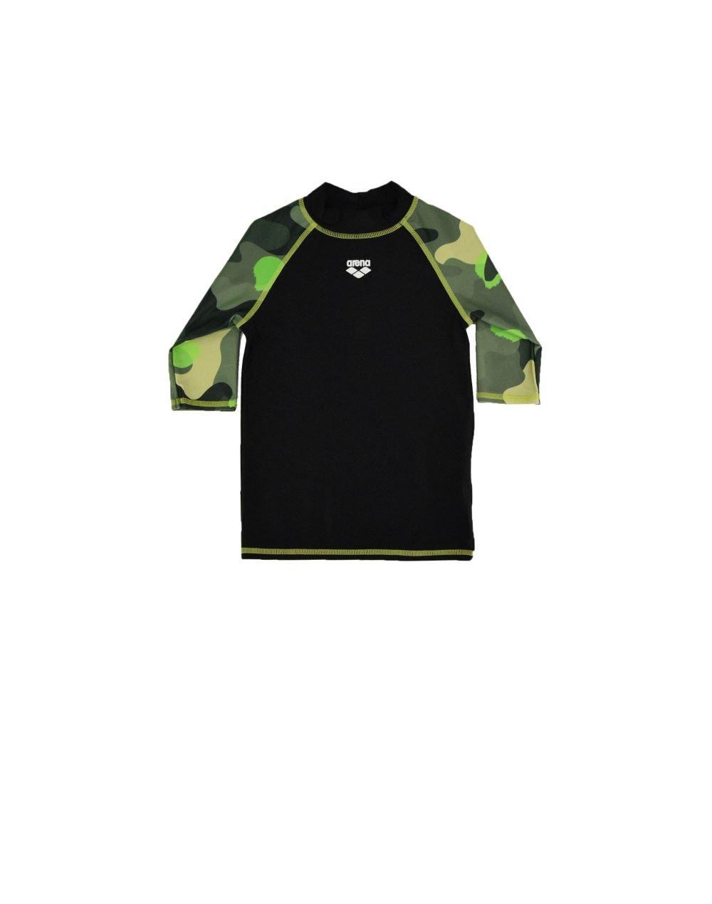 Arena UV Boys G Rash Allover Vest (003144166) Black/Wood Green