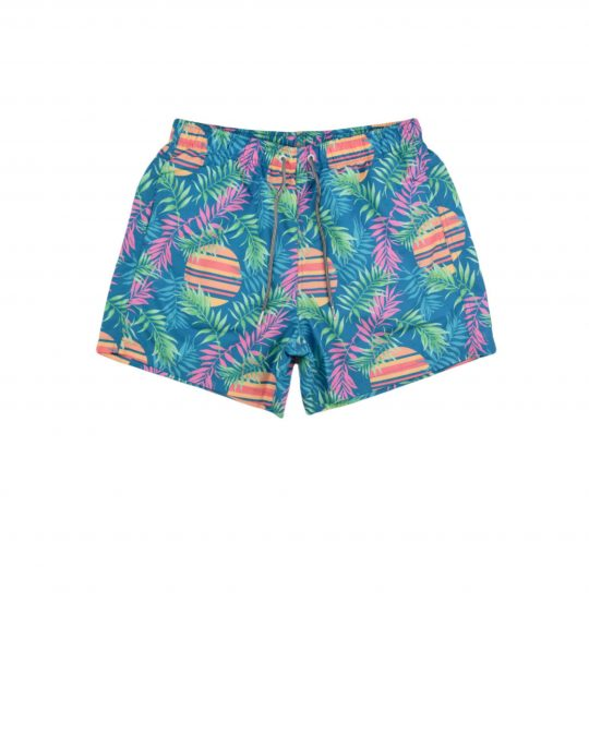 Boardies Rising Palm Swim Shorts (BS504M) Teal
