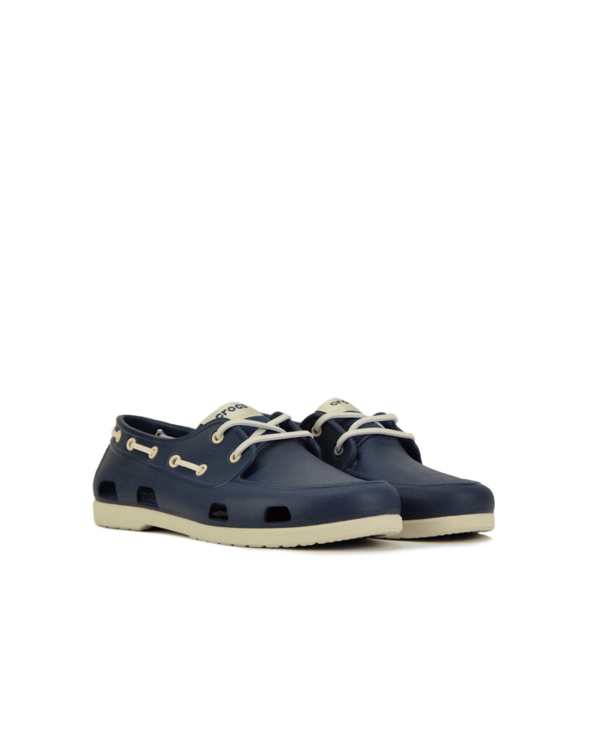 Crocs Classic Boat Shoe (206338-46K) Navy/Stucco