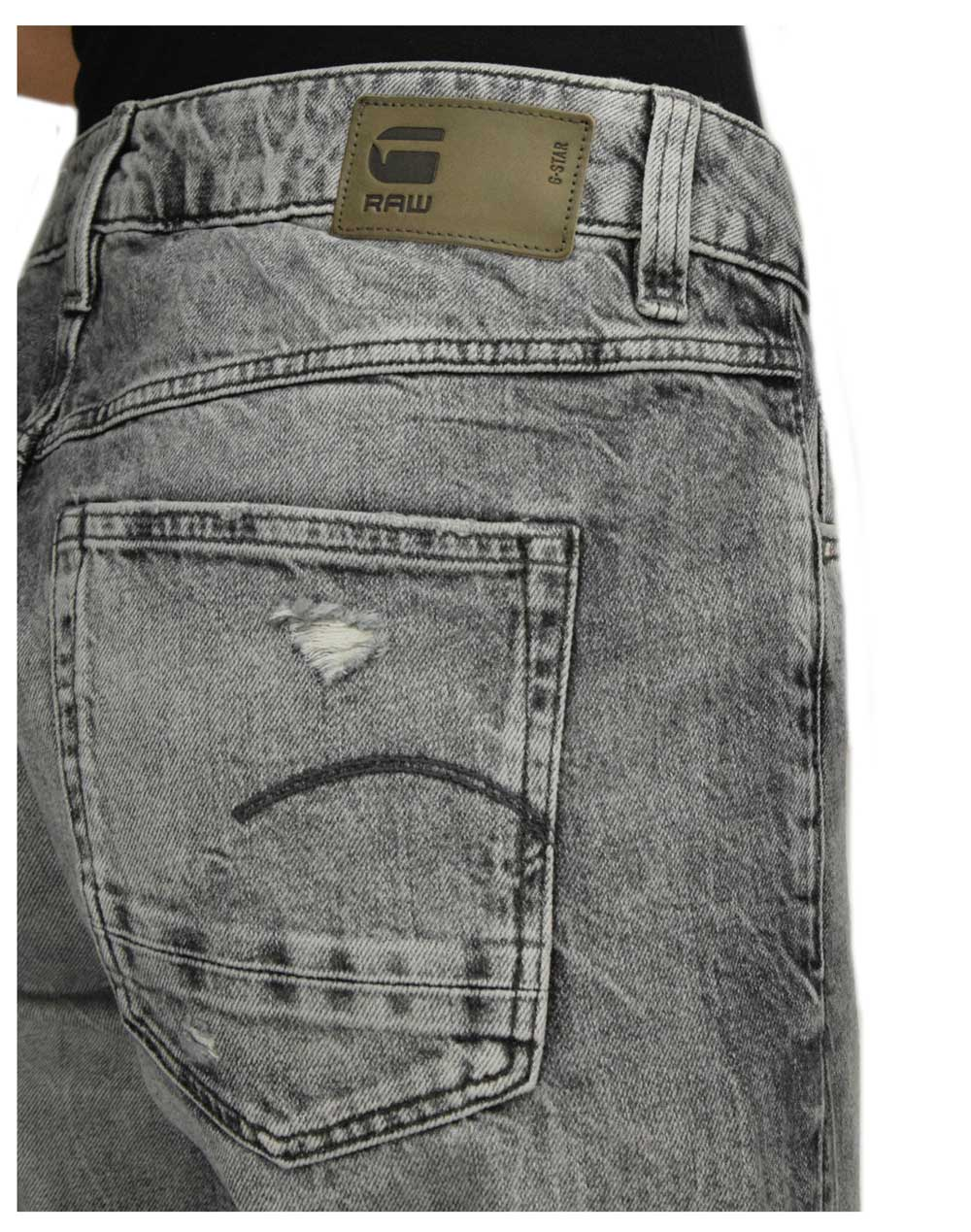 G-Star Raw Kate Boyfriend (D15264-C049-B162) Sun Faded Ripped Basalt