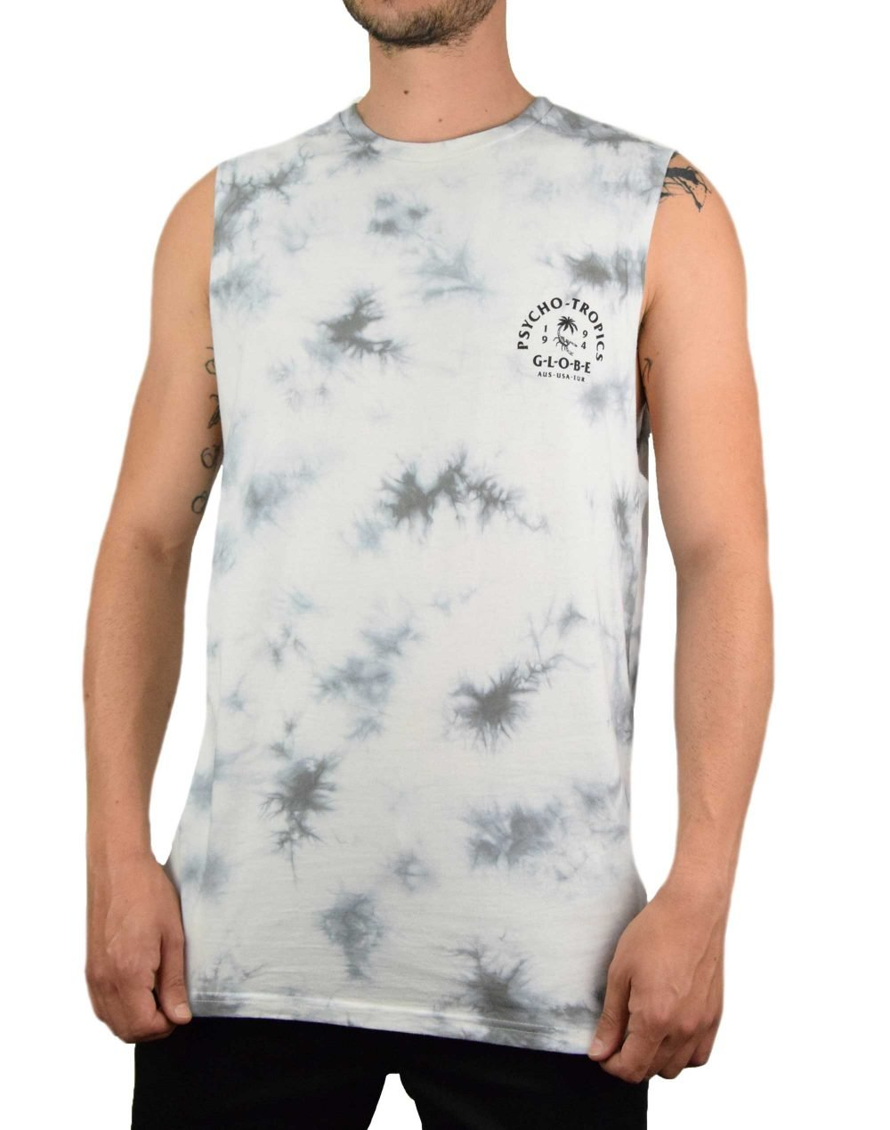 Globe Arch Muscle Tee (GB01922000) Ink