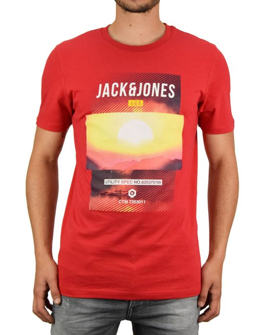Jack & Jones Friday Disc Tee (12165654) Chinese Red