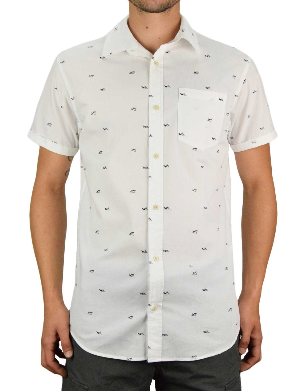 Jack & Jones Lasse Shirt (12170482) Cloud Dancer