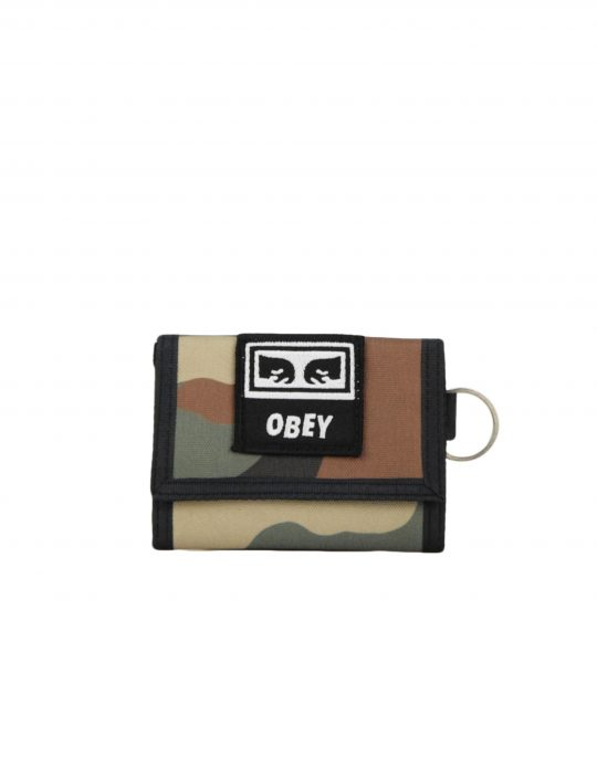 Obey Takeover Tri Fold Wallet (100010122) Field Camo