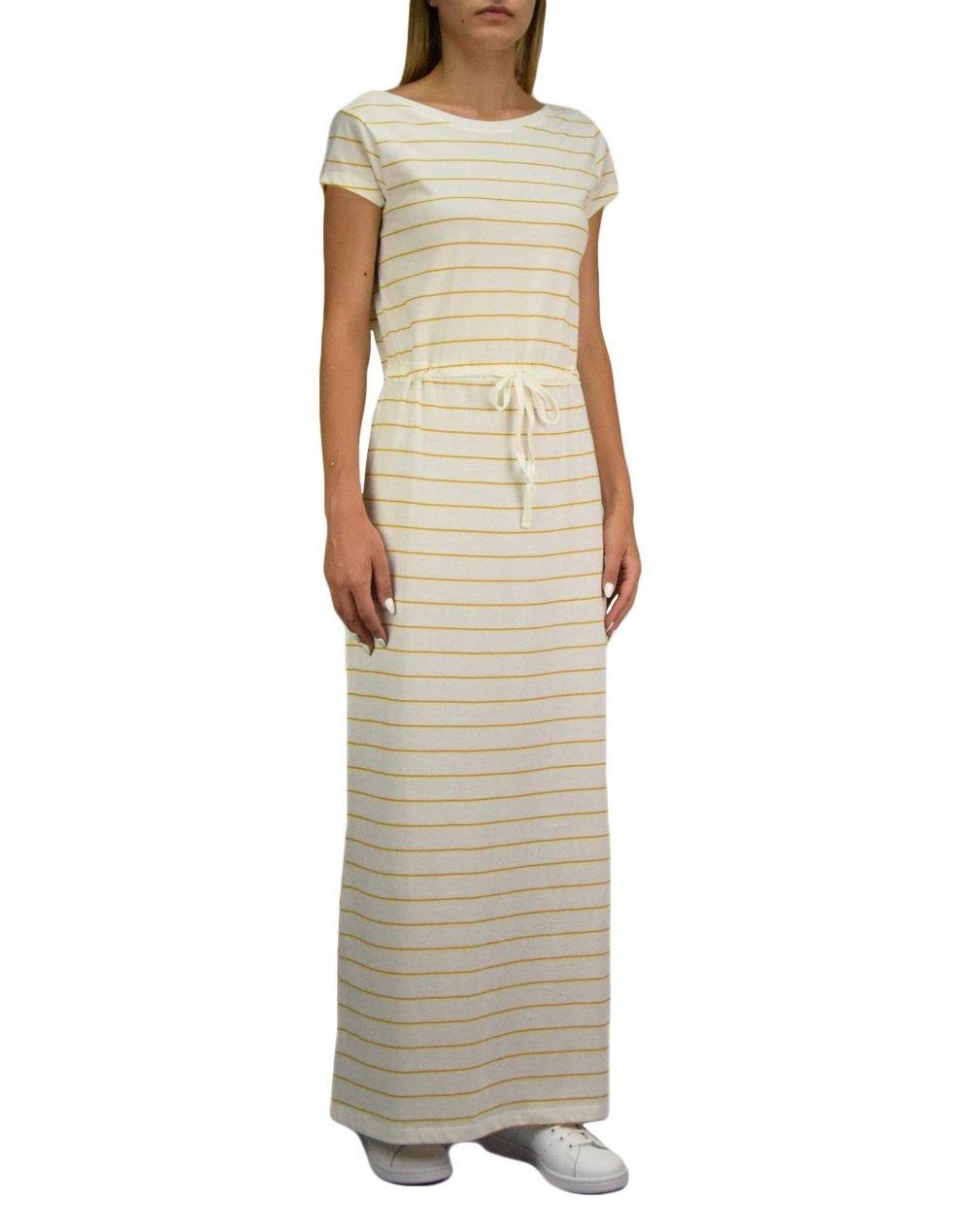 Only May Life String Maxi Dress (15202995) Cloud Dancer/Golden