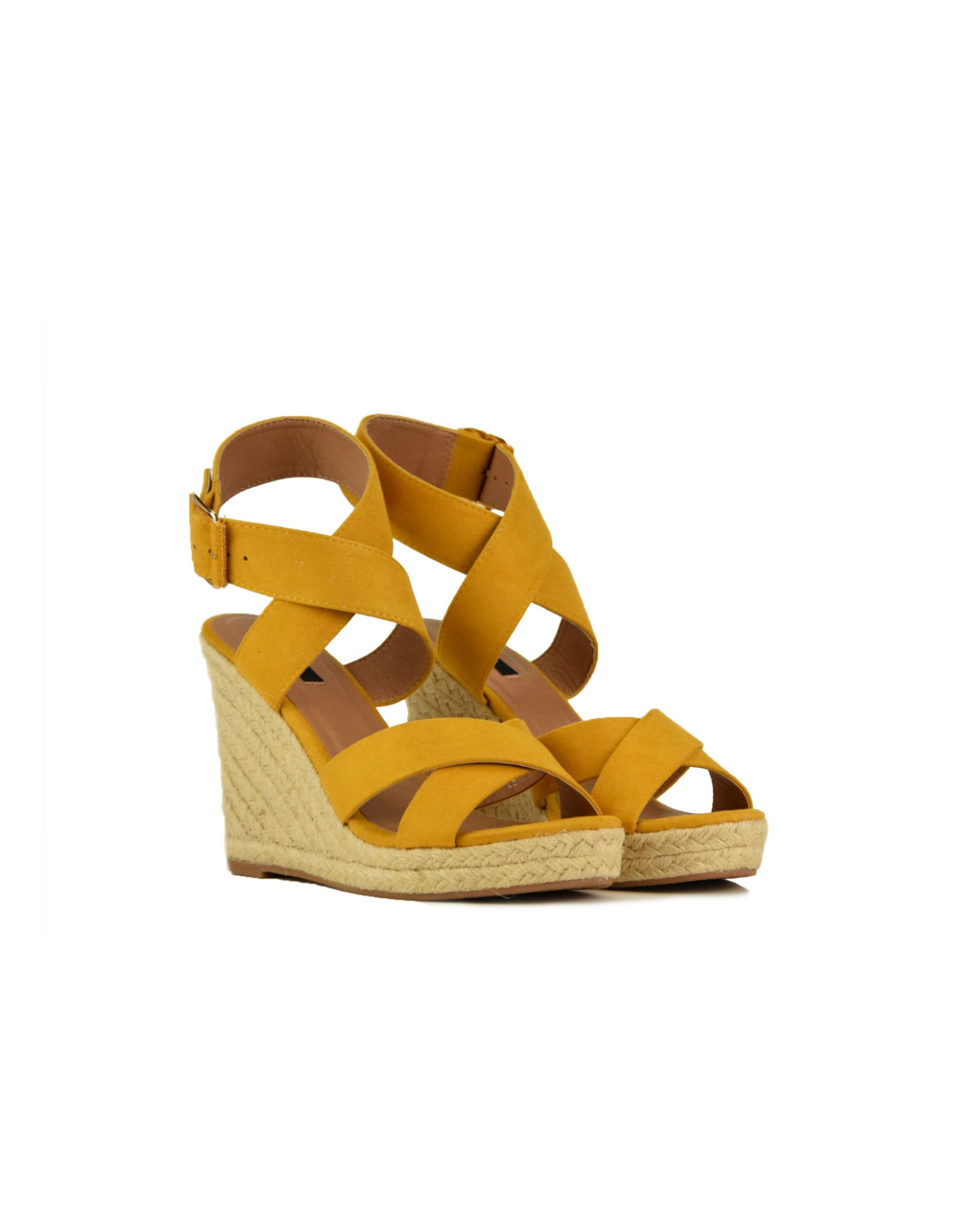 Only Onlamelia Wrap Heeled Sandals (15194076) Sunshine