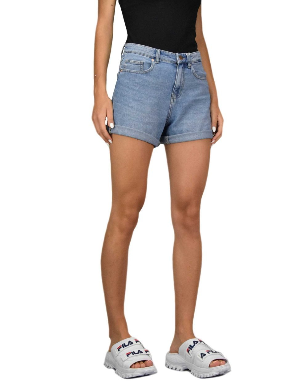 Only Phine Life Shorts (15196224 LBD) Light Blue Denim