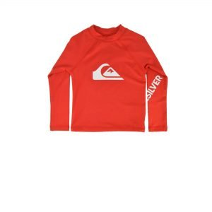 Quiksilver All Time Long Sleeve UPF 50 Rash Vest  (EQKWR03082-RQC0) High Risk Red