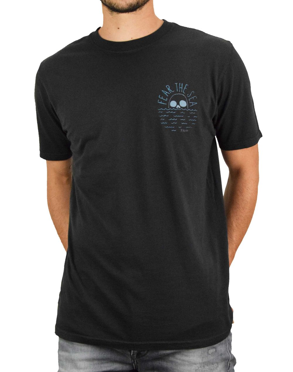 Roark Fear The Sea Tee (RT684) Black