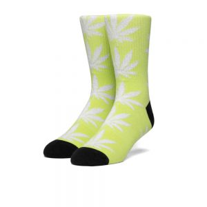 Huf Plantlife Metallic Leaves Socks (SK00447) Hot Lime