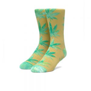 Huf Plantlife Tiedye Leaves Socks (SK00433) Golden Spice