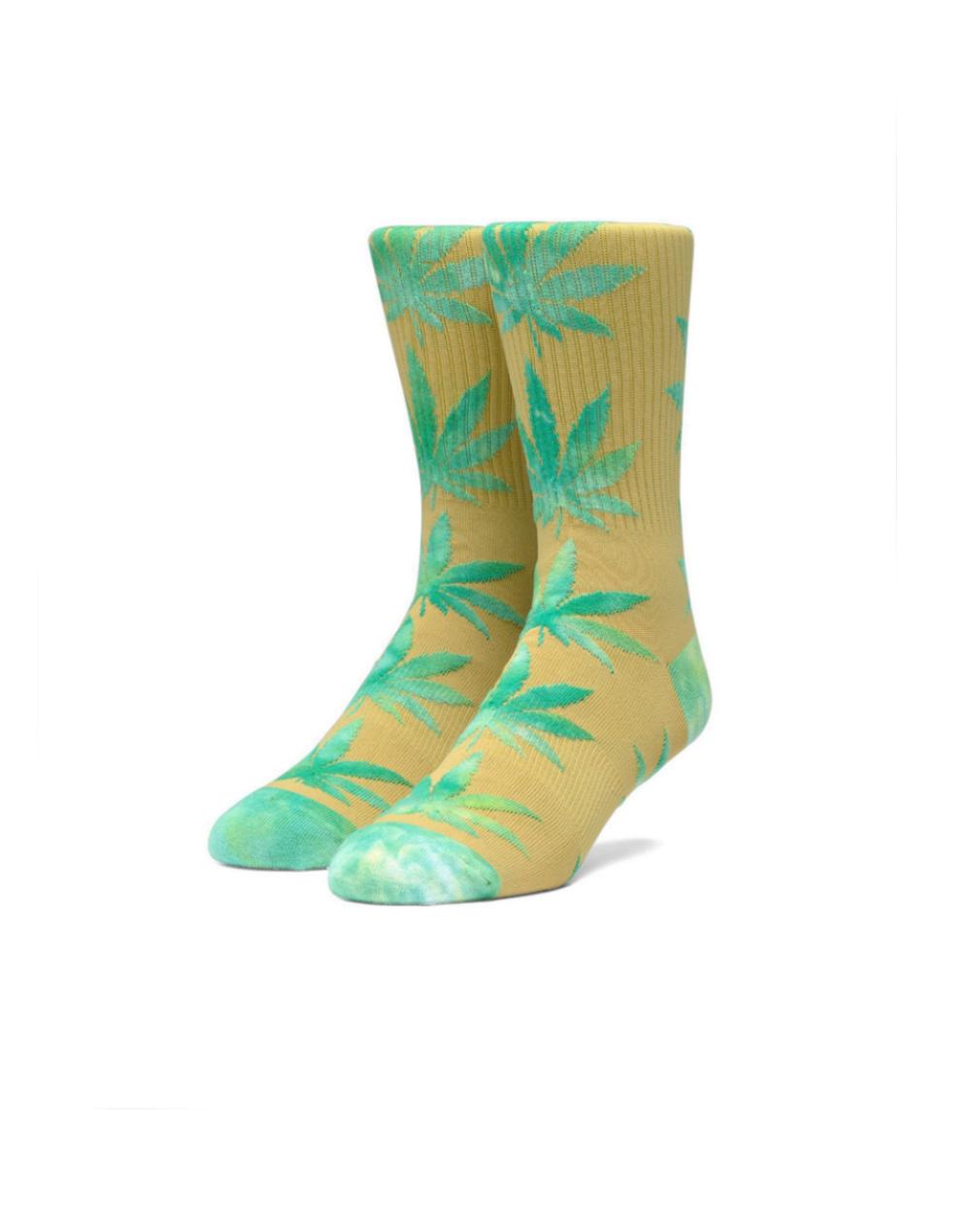 Huf Plantlife Tiedye Leaves Socks (SK00433) Golden Spice