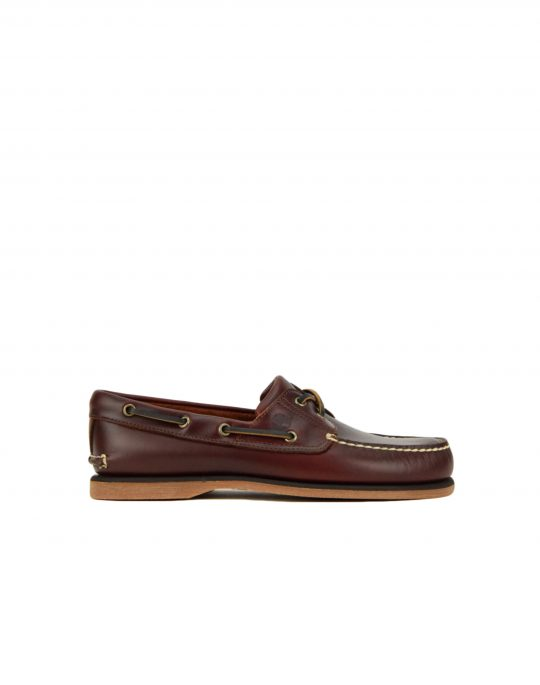 Timberland Classic 2 Eye Boat Shoe (TB025077 214) Medium Brown