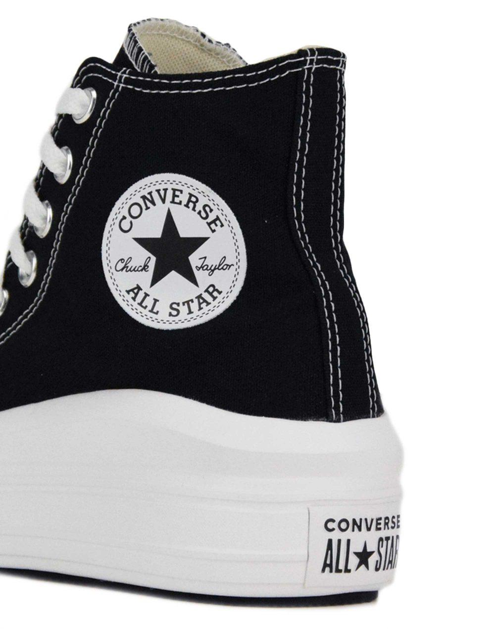 Converse Chuck Taylor All Star Move Hi Top (568497C) Black/Natural Ivory/White