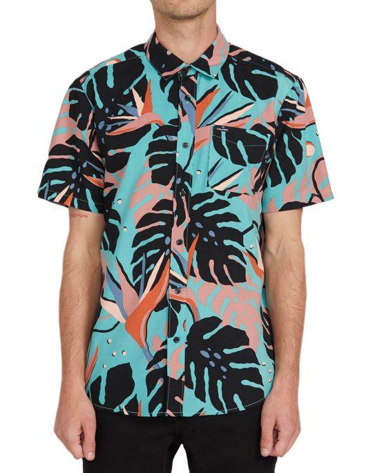 Volcom Mentawais Shirt (A0412001) Mysto Green