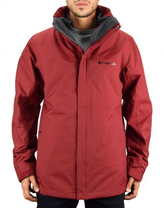 Columbia Mission Air™ Interchange Jacket (WO7211-665) Red Jasper/Dark Mountain