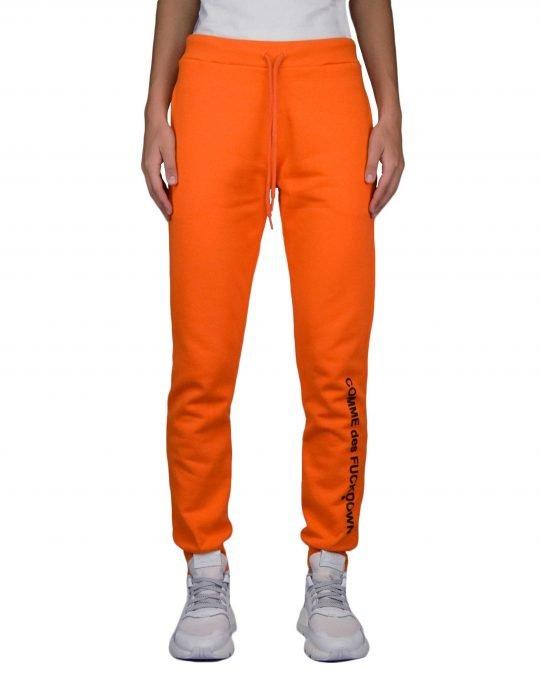 Comme des Fuckdown Pantalone If Felpa Con Stampa (CDFD1120 16-1364) Arancio