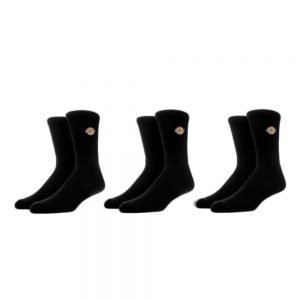 Dickies Valley Grove Embroidered Socks x3 (DK0A4X82BLK1) Black