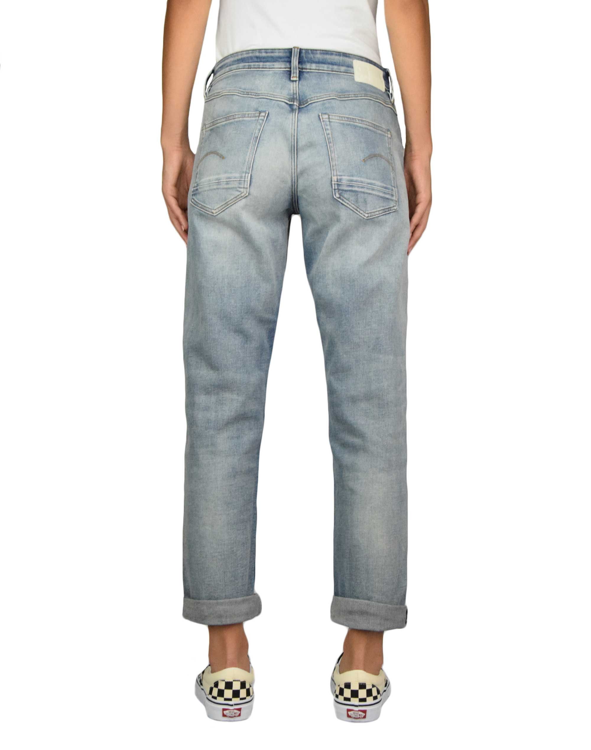 G-Star Raw Kate Boyfriend (D15264-C052-B819) Antic Faded Lapo Blue Destroyed
