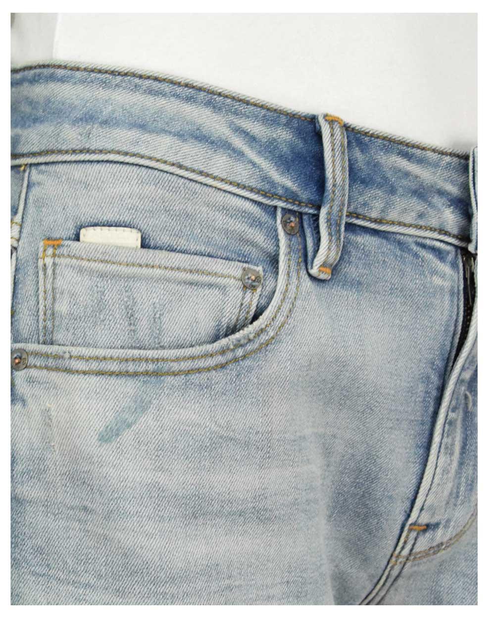 G-Star Raw Kate Boyfriend (D15264-C052-B819) Antic Faded Lapo Blue Destroyed
