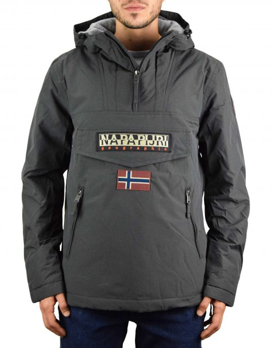 Napapijri Rainforest Pocket 1 Jacket (NP0A4EGY1981) Dark Grey Solid